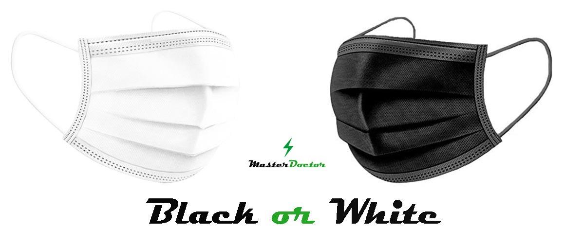 Jednorázová rouška černá a bílá