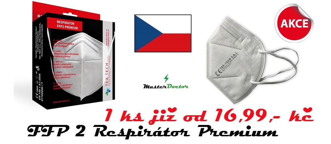 Respirátor FFP2 PREMIUM 5 vrstev (Česká výroba)