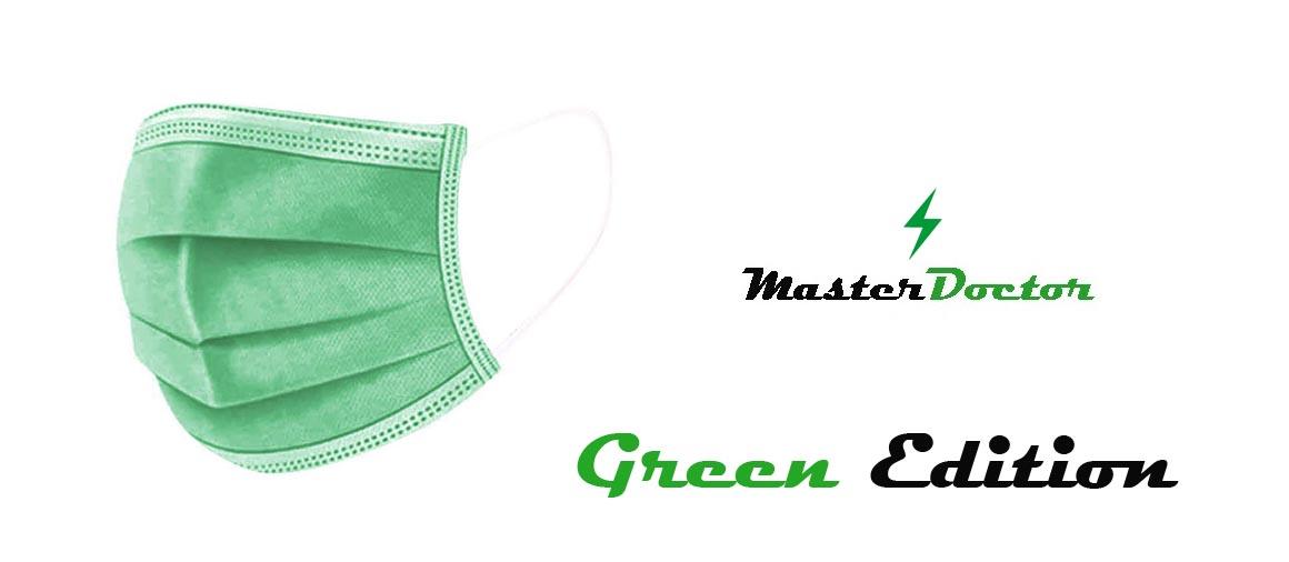 Jednorázová rouška zelená