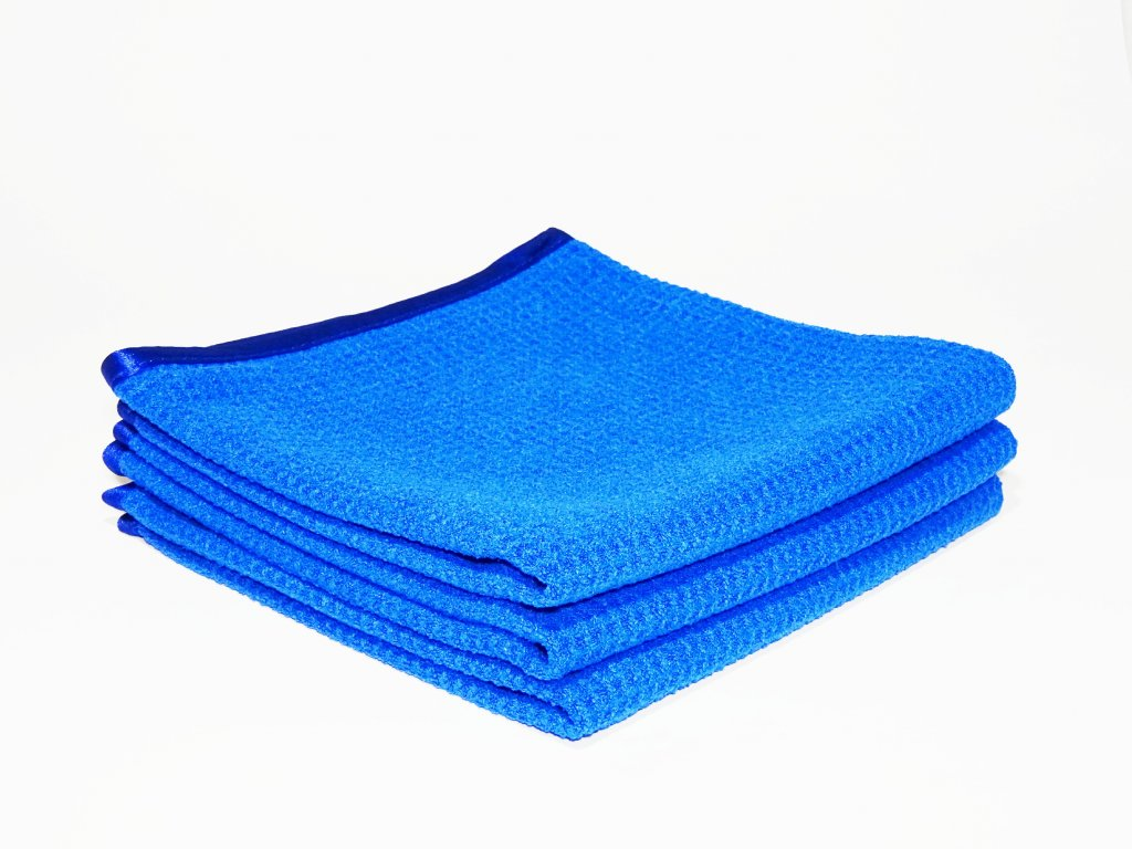 Mikrovlákno na autoskla a okna - WINDOW AND GLASS WAFFLE MICROFIBRE BLUE