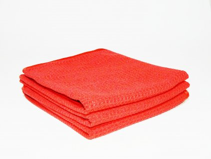 WINDOW AND GLASS WAFFLE MICROFIBRE RED
