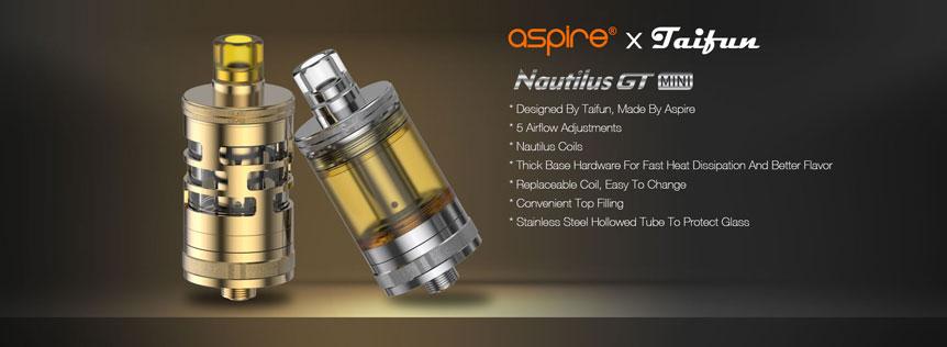 Clearomizer aSpire Nautilus GT Mini, spolupráce s Taifun