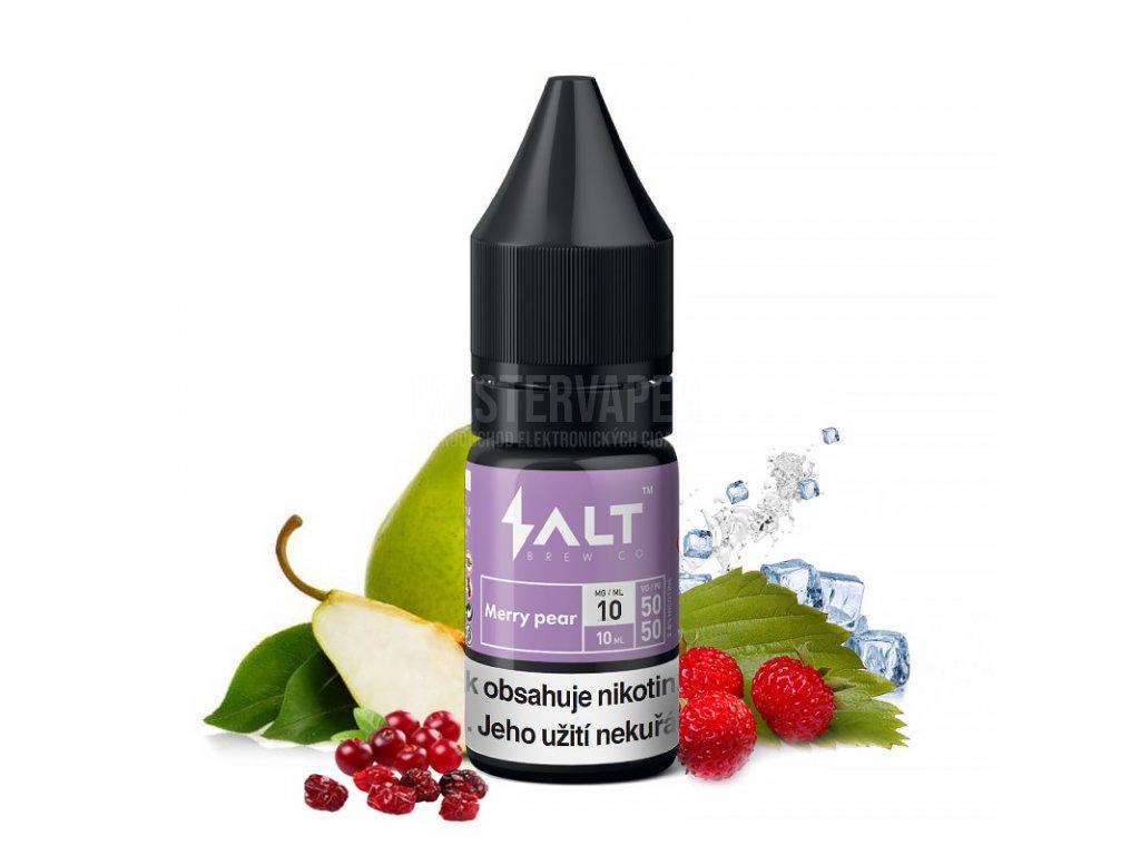 Salt Brew CO - 10ml - 10mg - Merry Pear(Ledová hruška s jahodou)