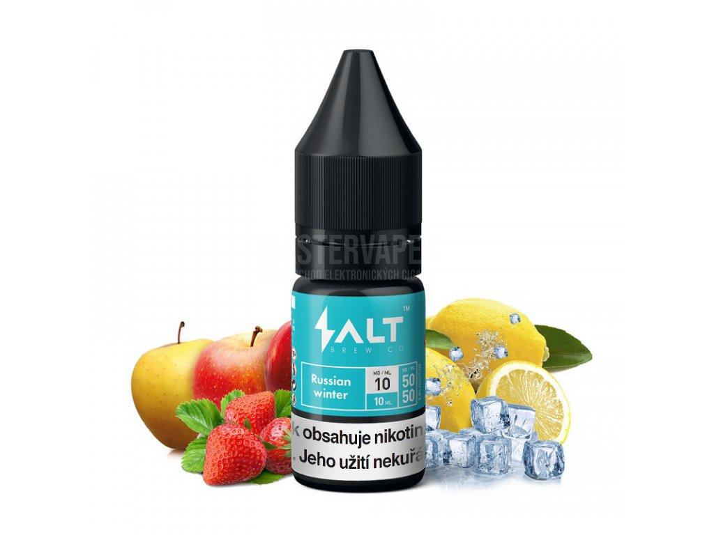 Salt Brew CO - 10ml - 20mg - Russian Winter (Ledové jablko, jahoda a citron)