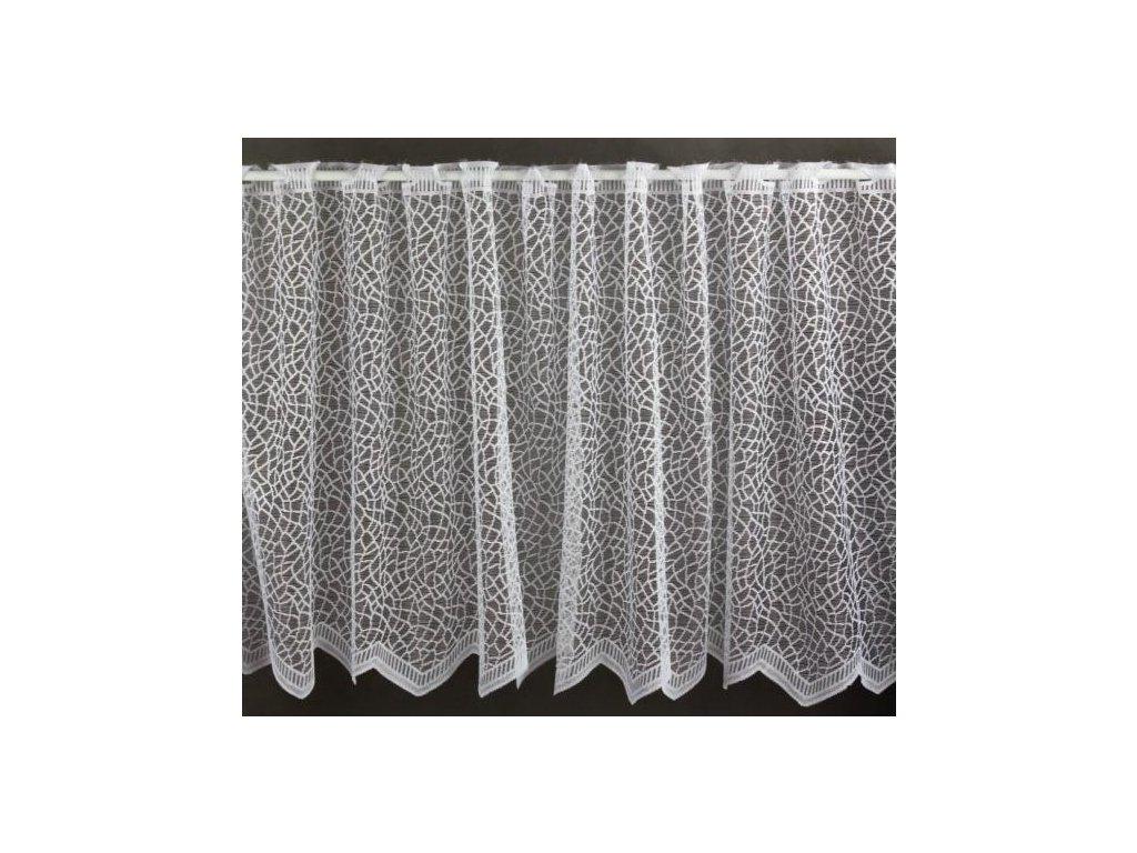 Žakárová záclona výška 70 cm bílá