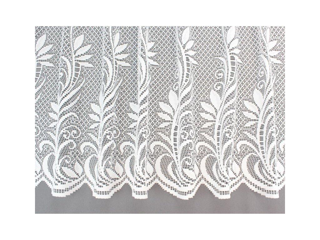 Žakárová záclona se vzorem č.365801 bílá
