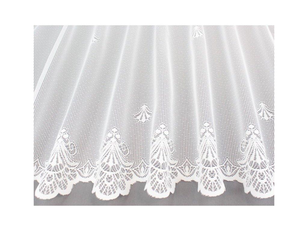Žakárová záclona se vzorem A379201180 bílá