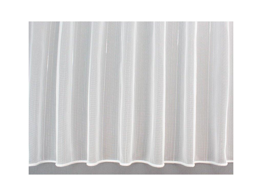 Žakárová záclona s olůvkem č.2856 10 bílá