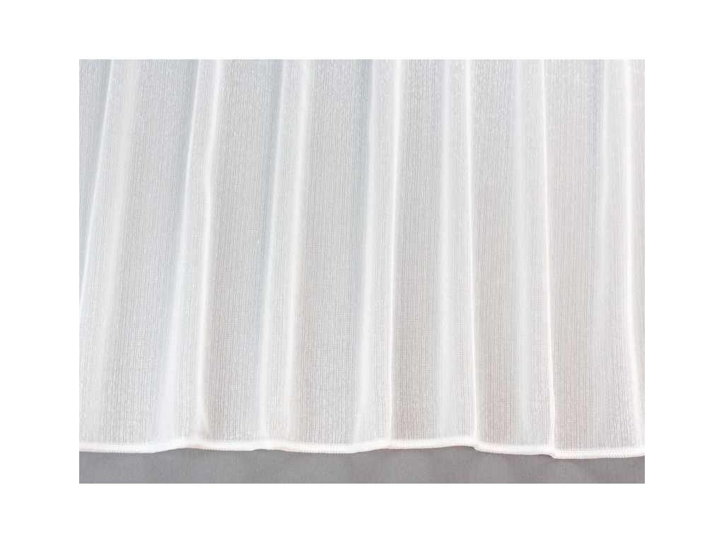 Žakárová záclona s olůvkem č.253710 bílá