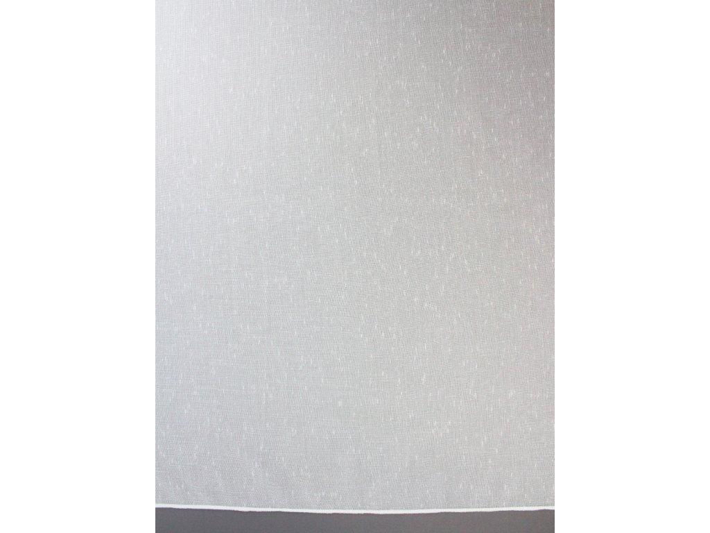 Žakárová záclona s olůvkem bílá