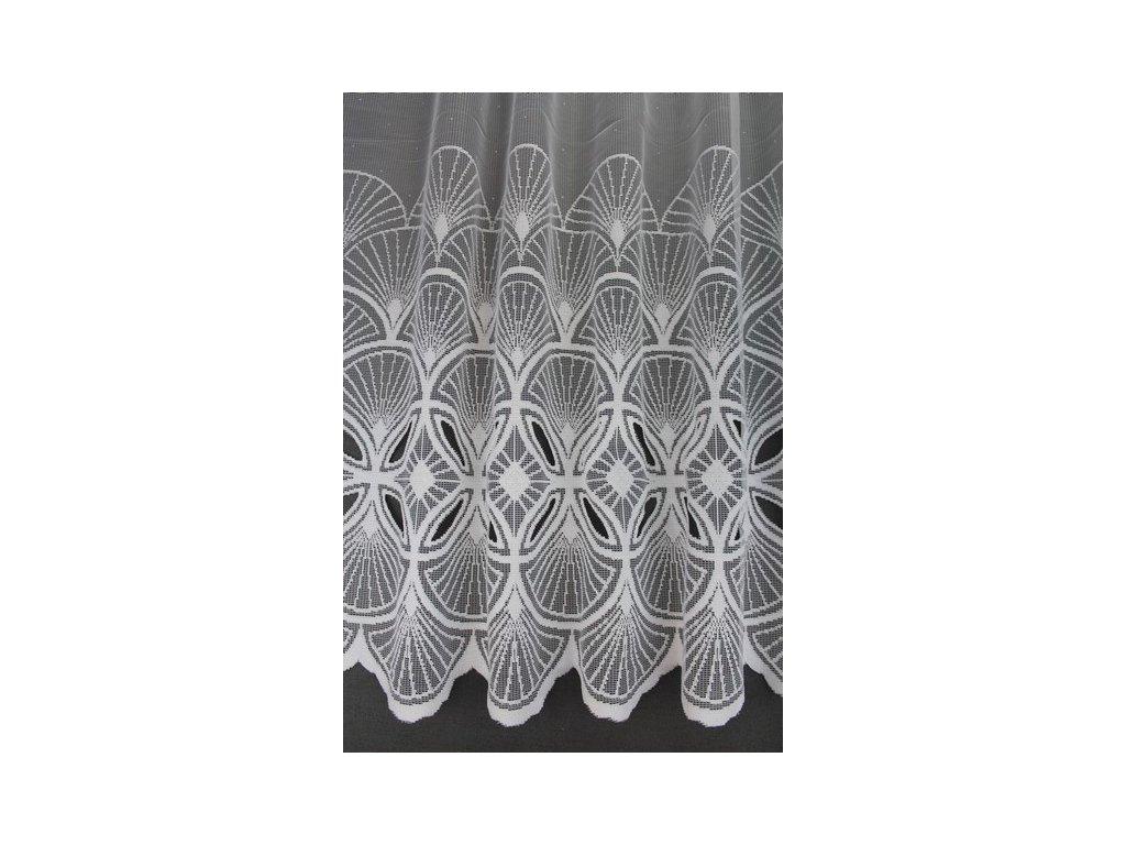 Žakárová záclona s kantou č.4172 bílá