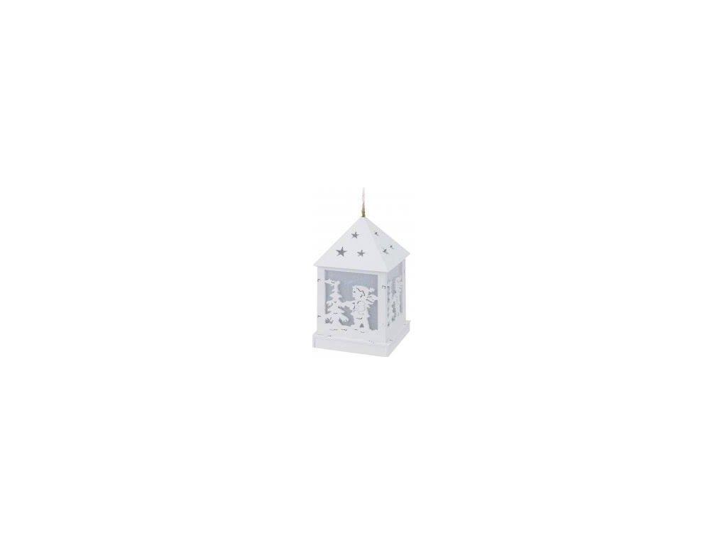 Závěsná LED lucerna Chlapec 6,5x6,5x12 cm bílá