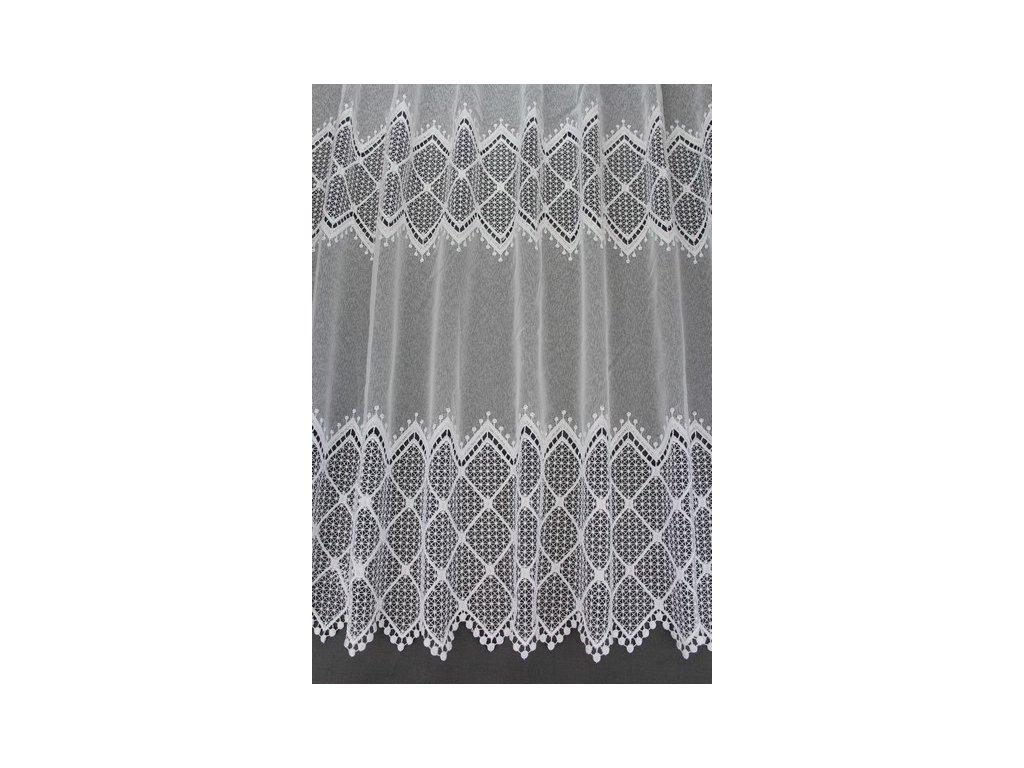 Záclona s výšivkou V125 bílá