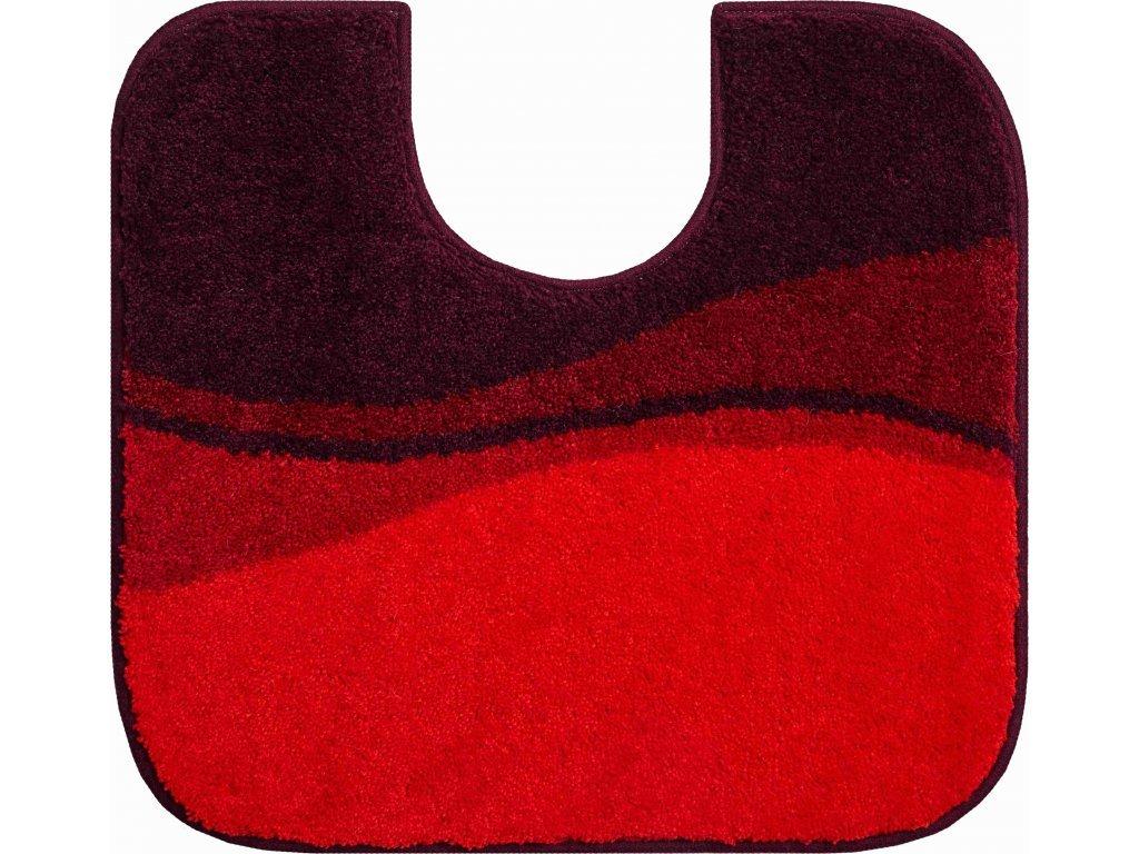 WC předložka s výřezem Grund Flash 55x60 cm červená