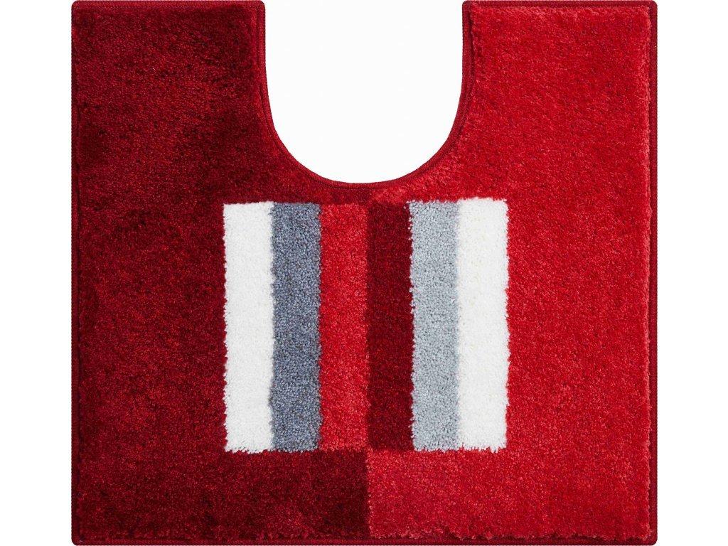 WC předložka s výřezem Grund Capricio 55x60 cm červená