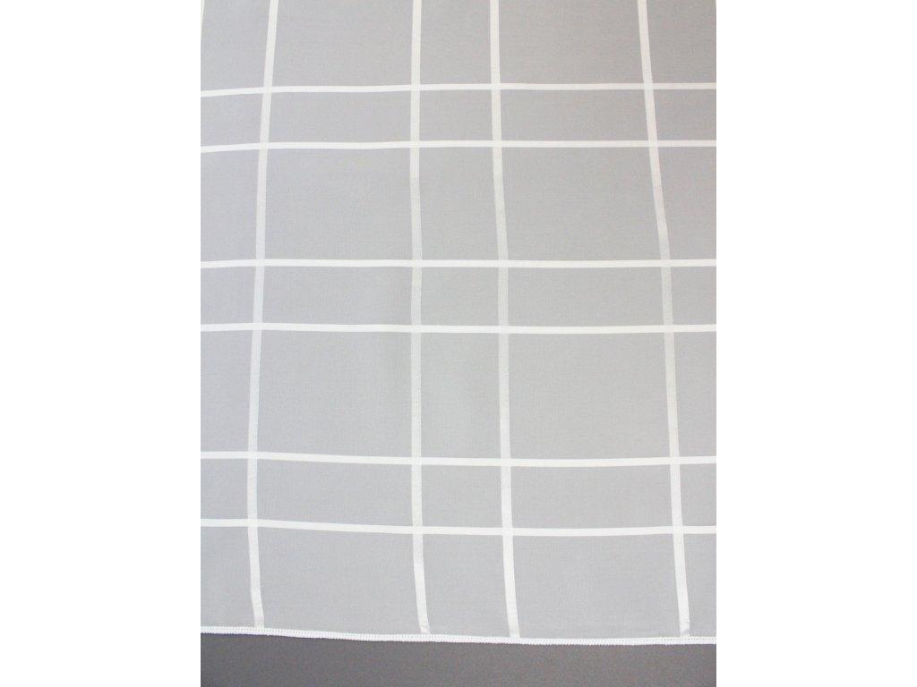 Voálová záclona výška 300 cm bílá