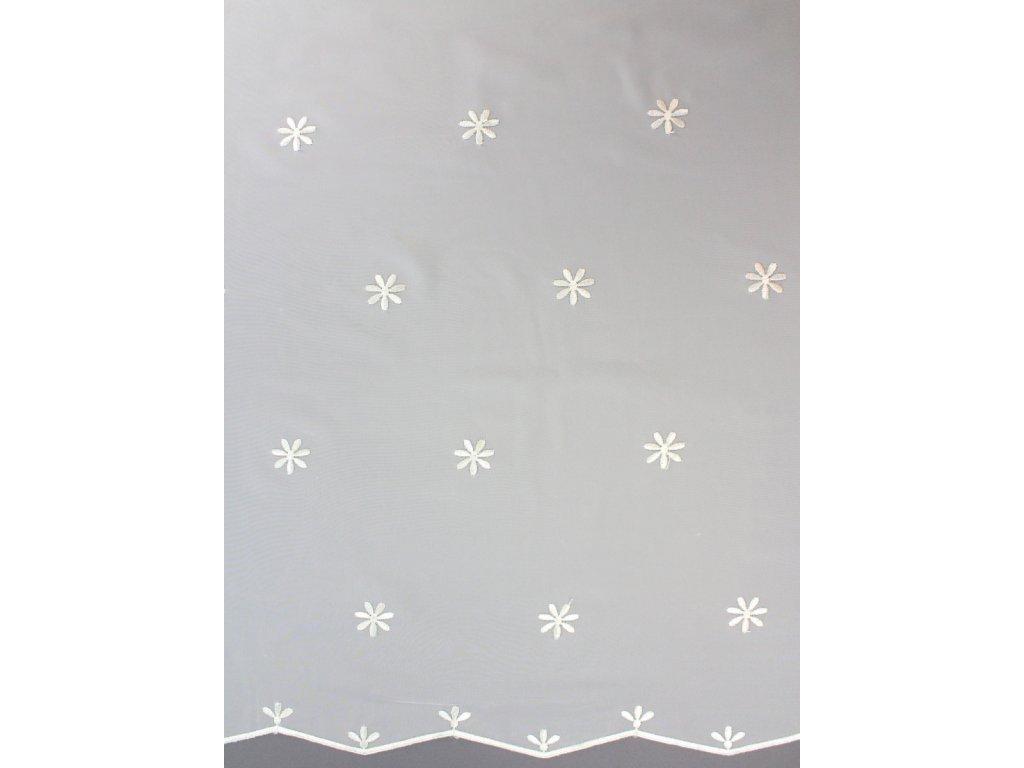 Voálová záclona se vzorem smetanová