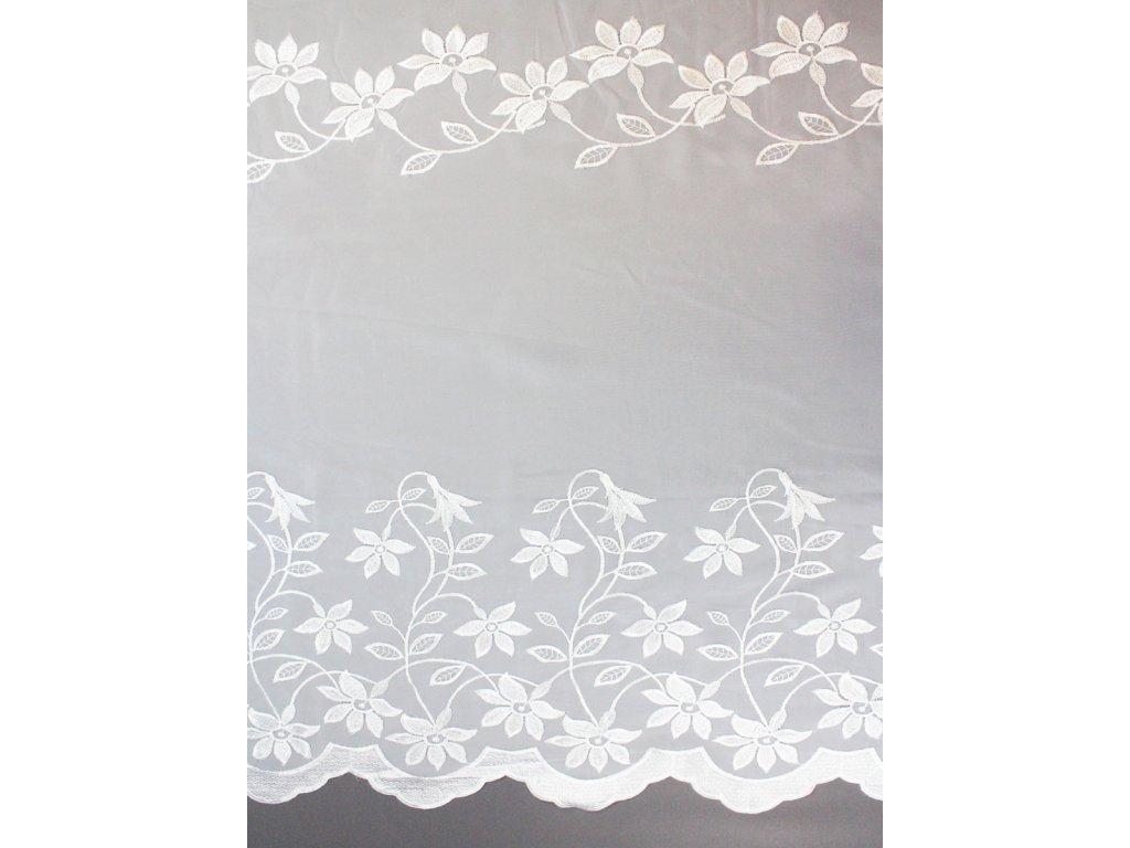 Voálová záclona se vzorem kytka výška 280 cm