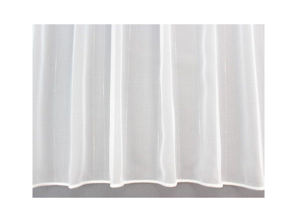 Voálová záclona s olůvkem jemný proužek bílá