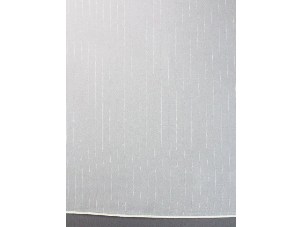 Voálová záclona s jemným proužkem smetanová