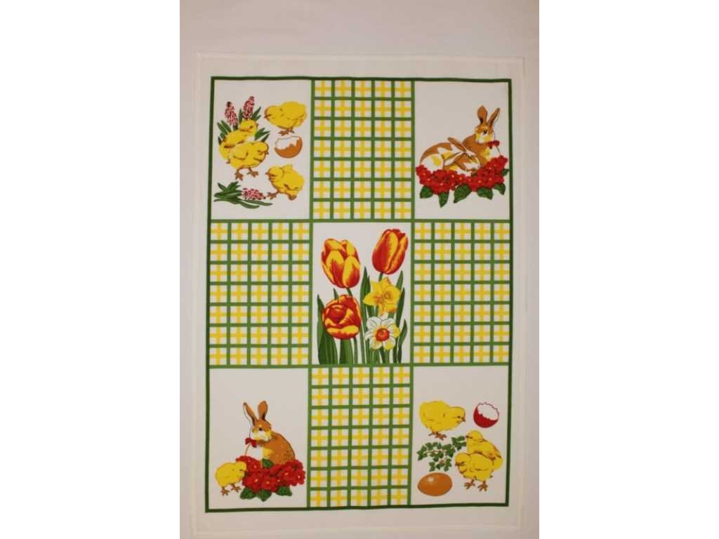 Velikonoční bavlněná utěrka velikonoční 50 cm x 70 cm|50x70