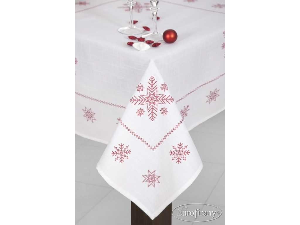 Vánoční ubrus LUCY 85x85 bílý