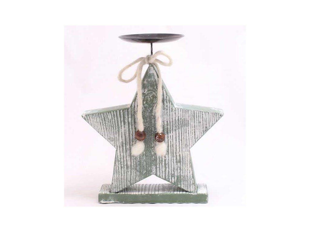 Vánoční svícen-hvězda velká PM515-1|zelená