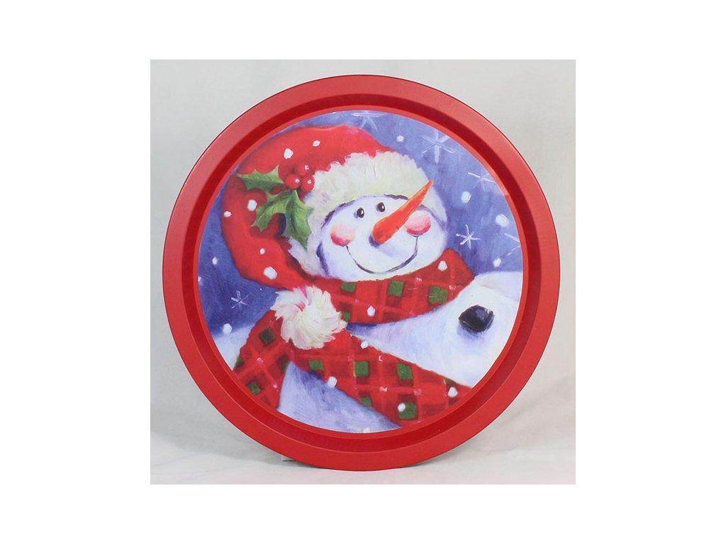 Vánoční plechový podnos 32x32