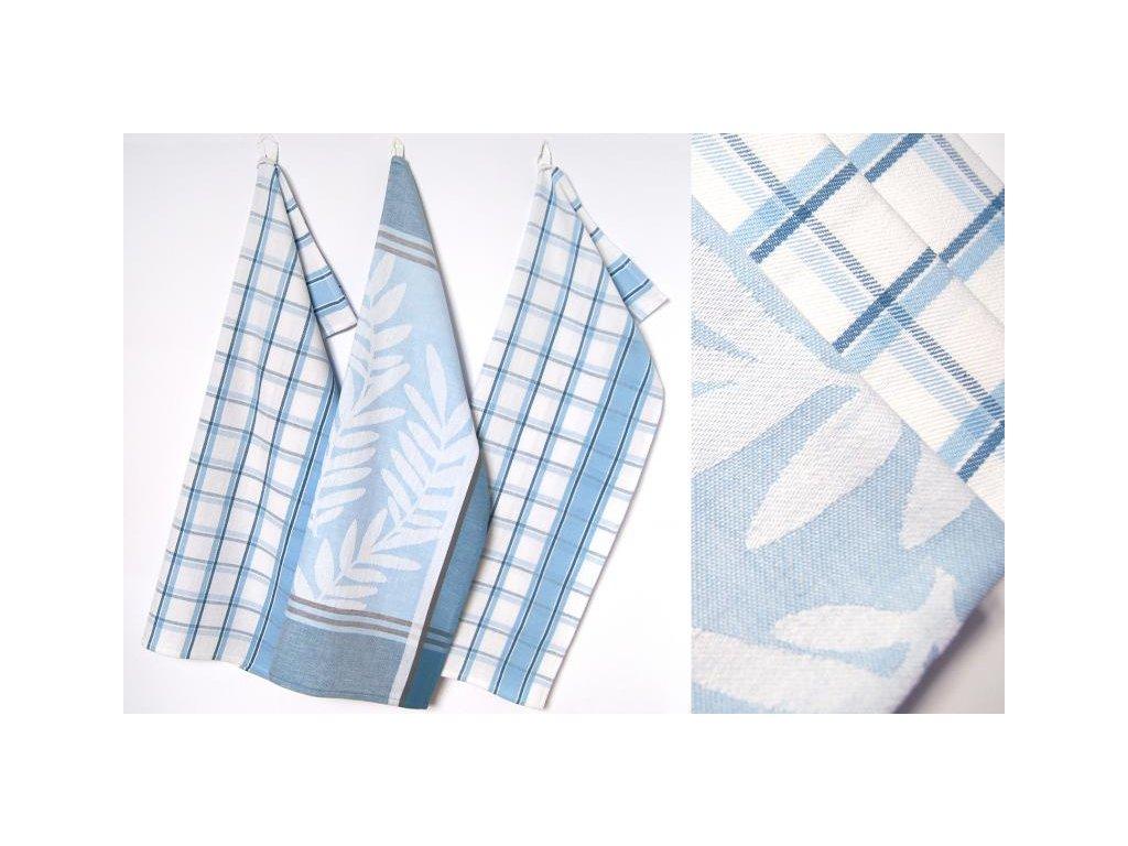 Utěrky Azur 50x70 cm 3ks v balení bílo/modré