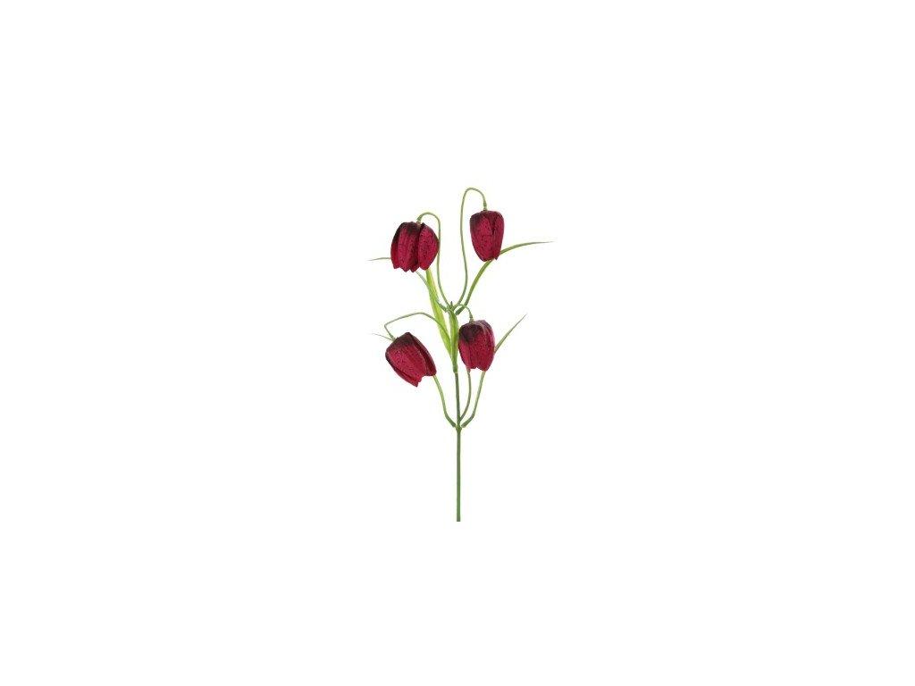 Umělá květina Zvonky bordó