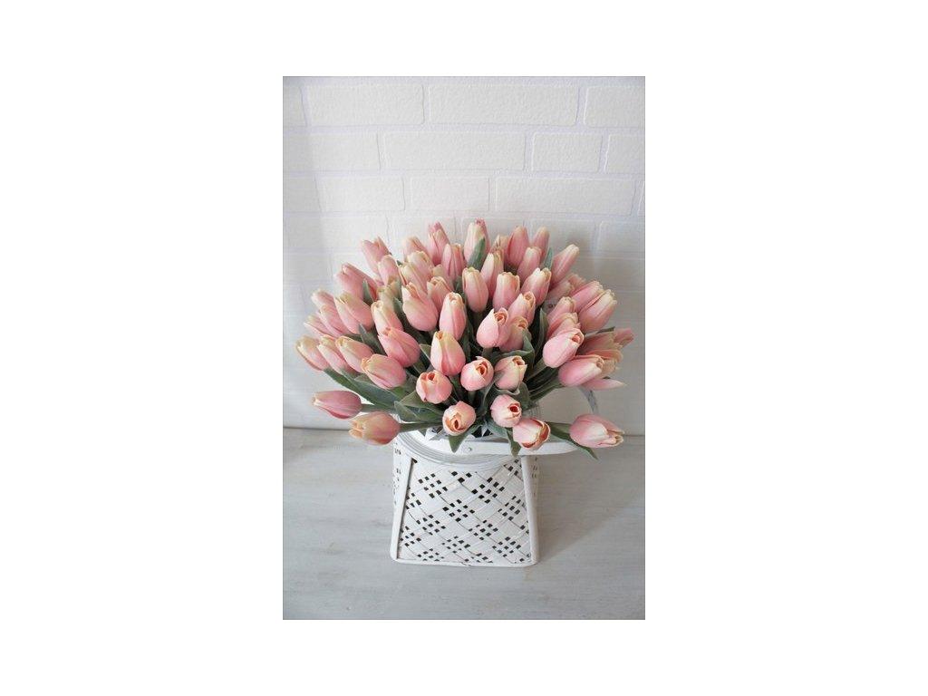 Umělá květina tulipán výška 39 cm růžový