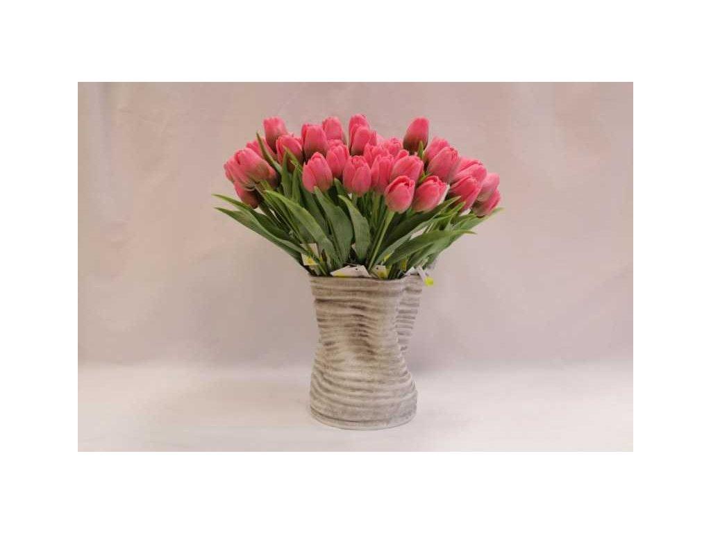 Umělá květina tulipán 44 cm růžový