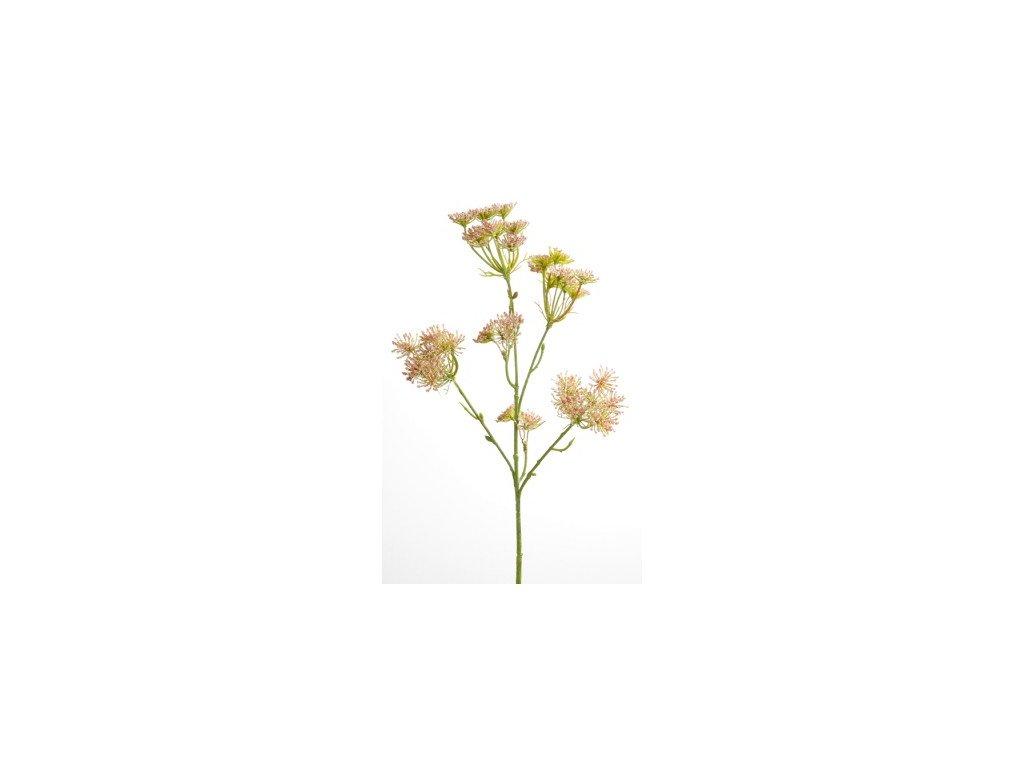Umělá květina Trachelium růžová