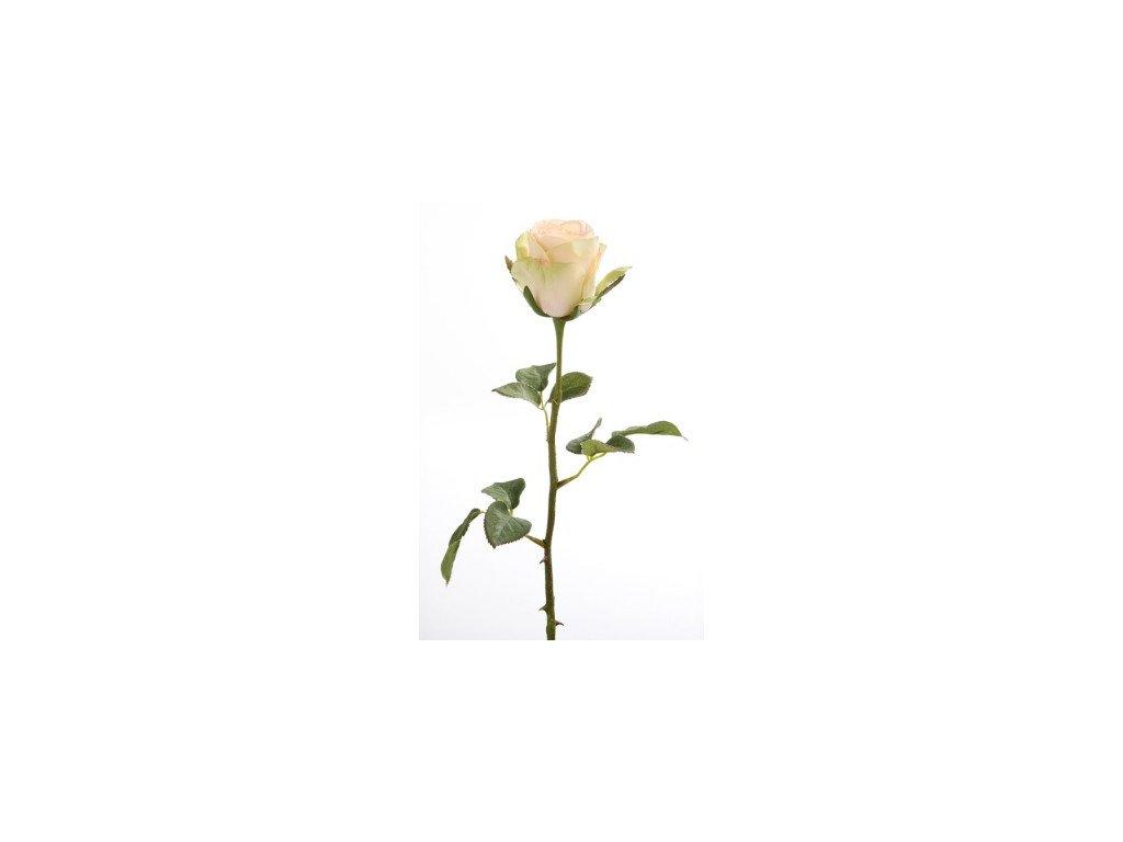 Umělá květina Růže broskovová