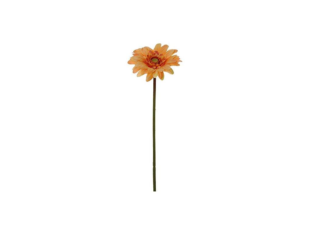 Umělá květina mini gerbera výška 20 cm oranžová