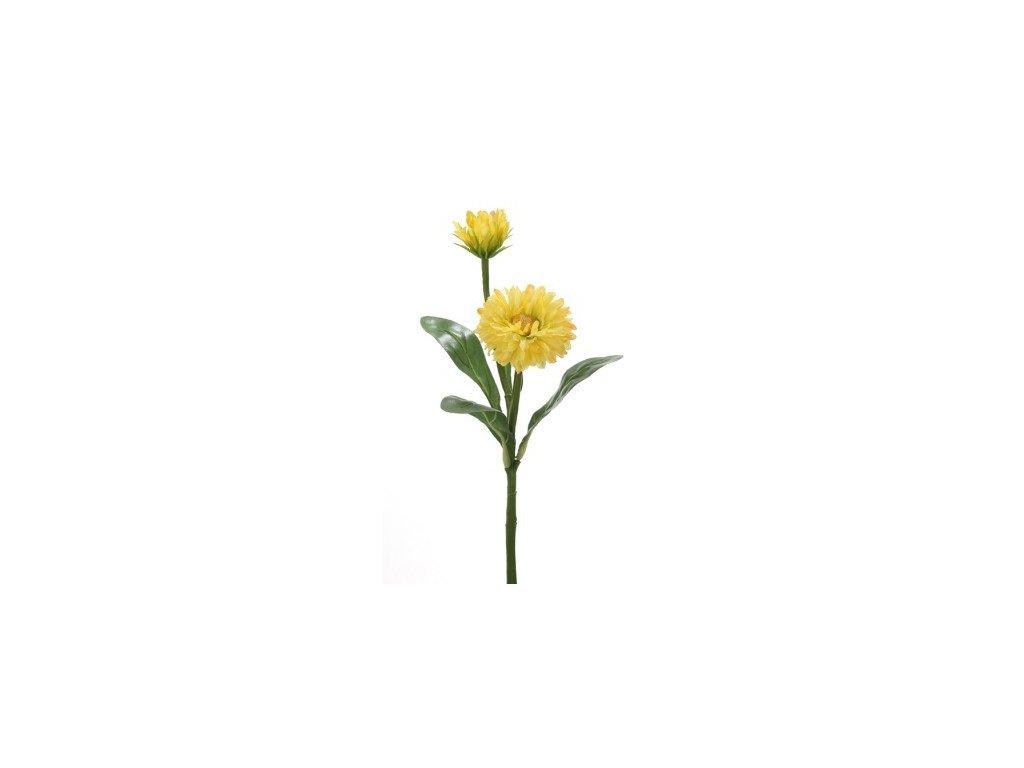 Umělá květina Měsíček Lékařský žlutý