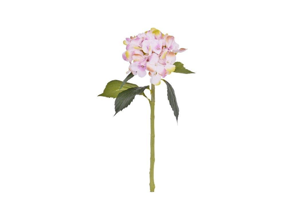 Umělá květina Hortenzie 48 cm růžová