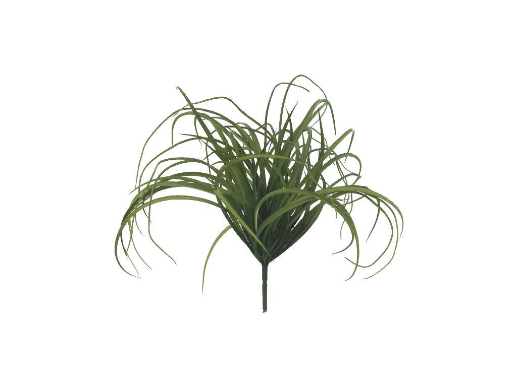 Umělá květina 40 cm zelená tráva-trs