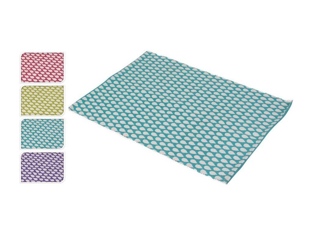 Tkaný kobereček 60x90 cm bílá/fialová
