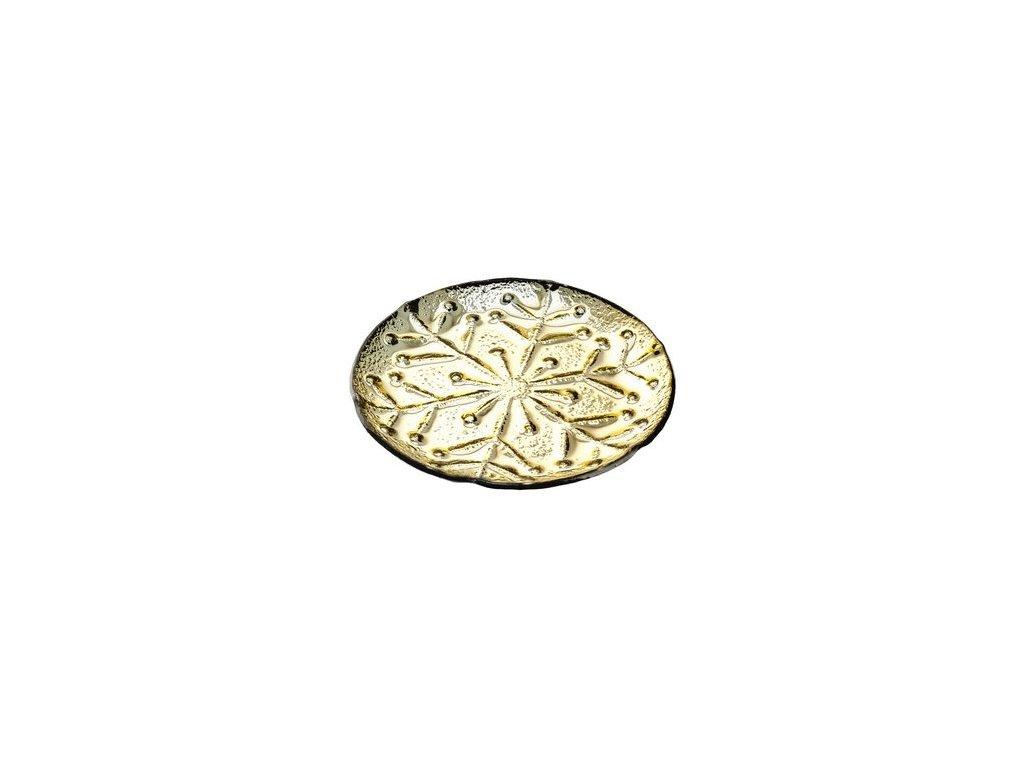 Tác s motivem vločky 23,5x23,5x2 cm zlatý