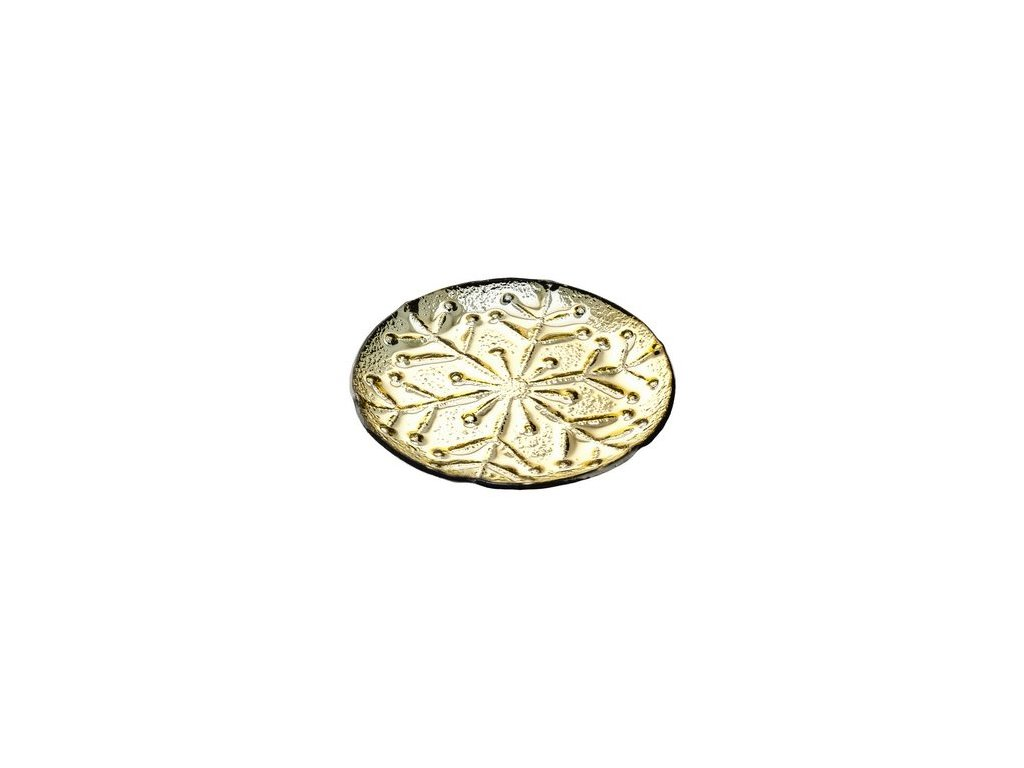 Tác s motivem vločky 19x19x1,5 cm zlatý