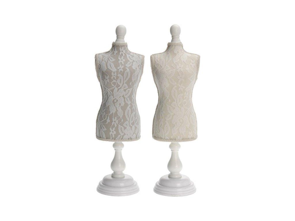Stojan na šperky figurína výška 42 cm šedý