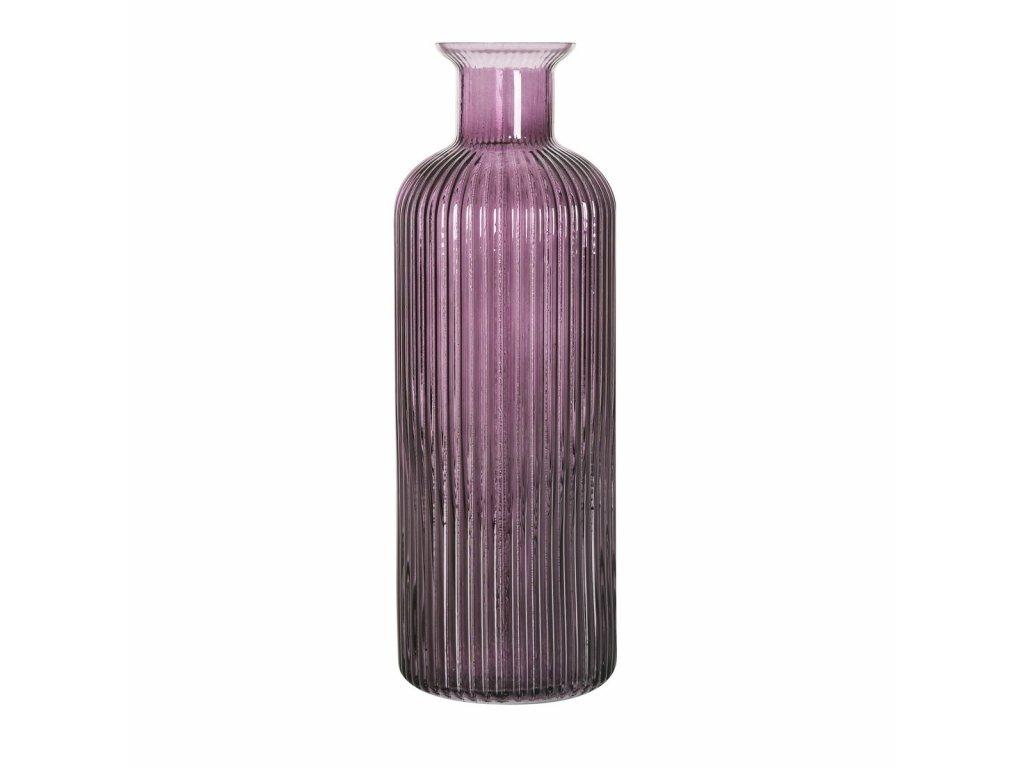 Skleněná váza výška 35 cm fialová