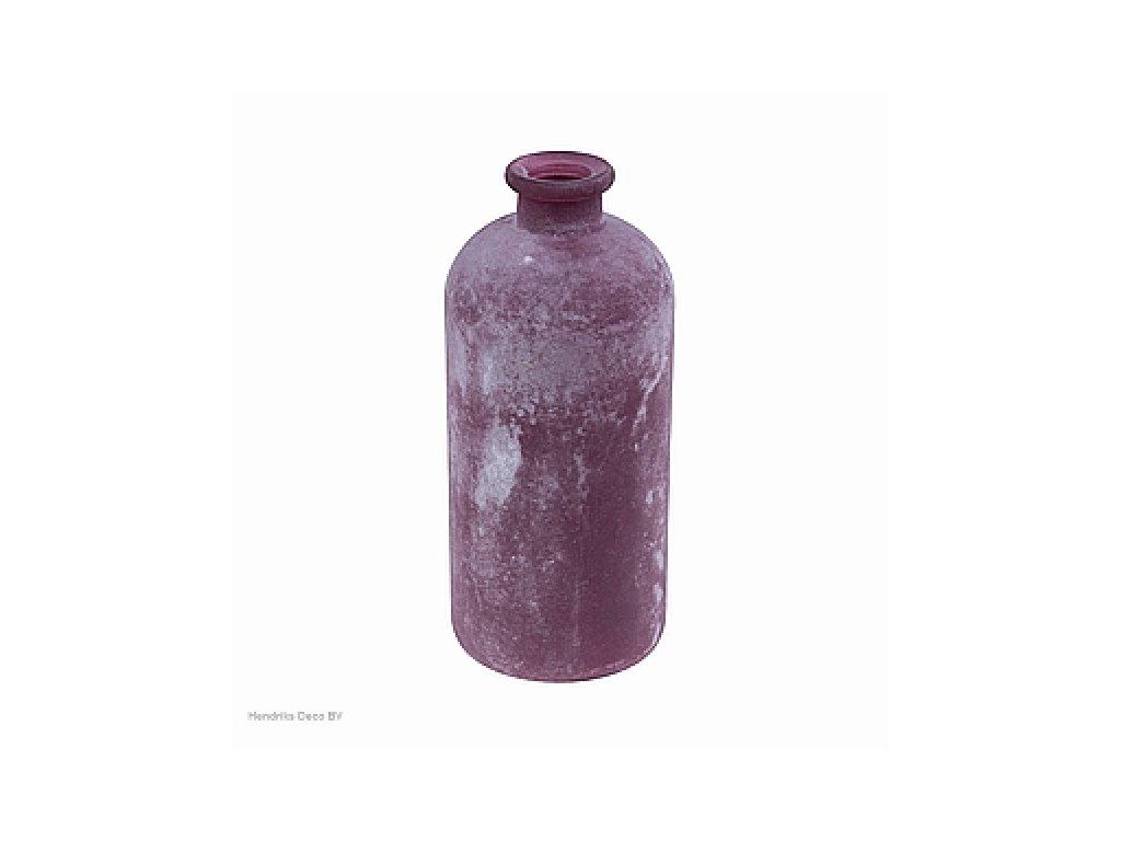 Skleněná váza FROSTED tmavě fialová 25cm