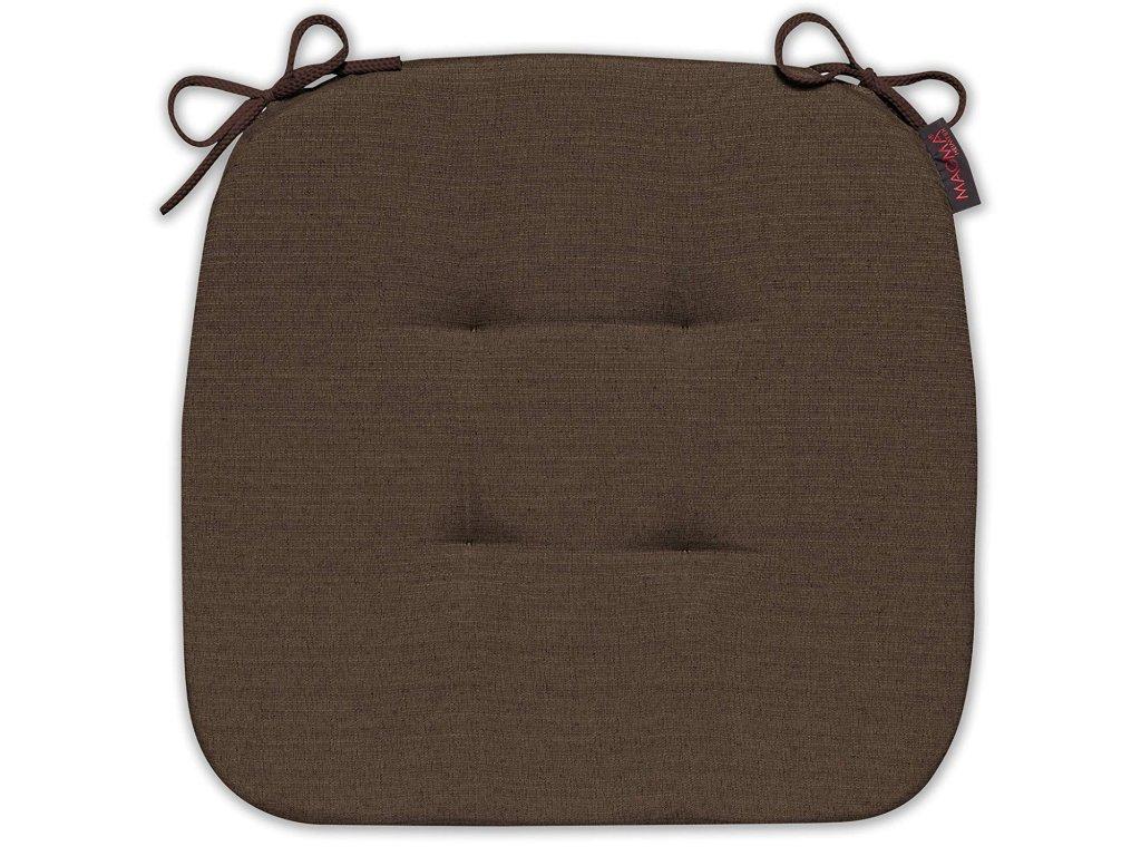 Sedák s úvazy 070 41x41x3,5 cm čokoládová