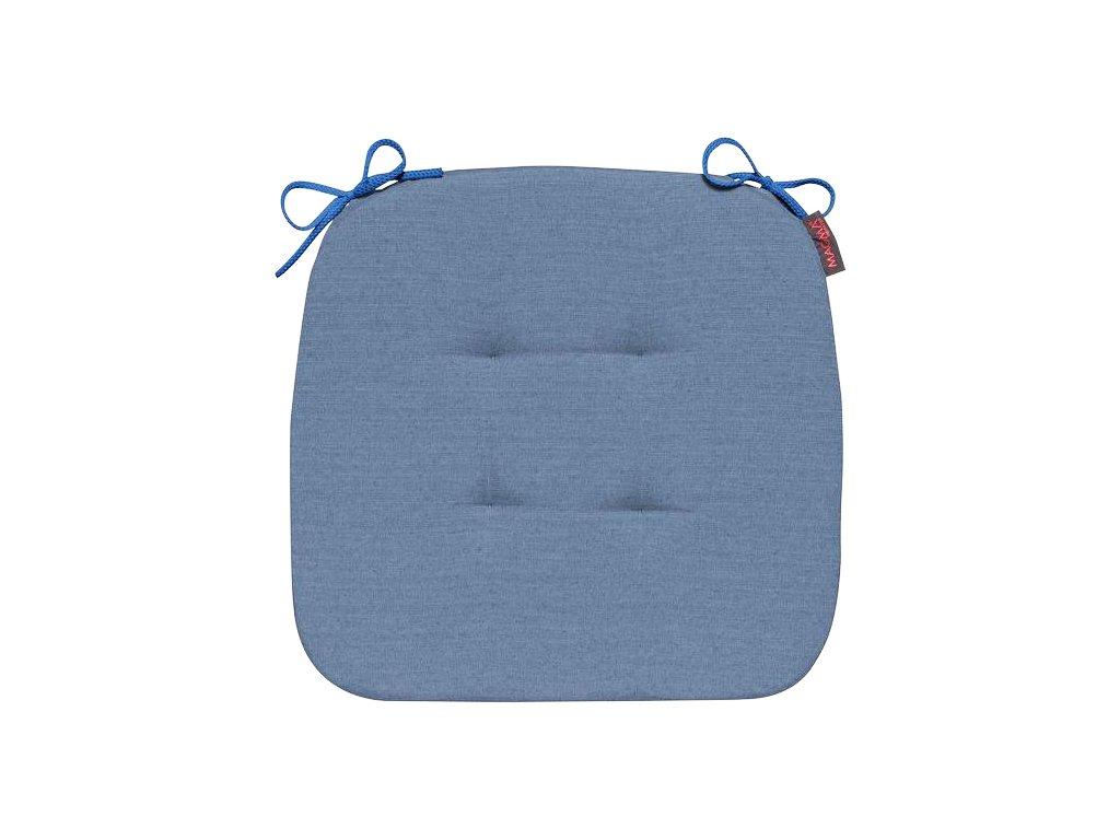 Sedák s úvazy 010 41x41x3,5 cm tmavě modrý