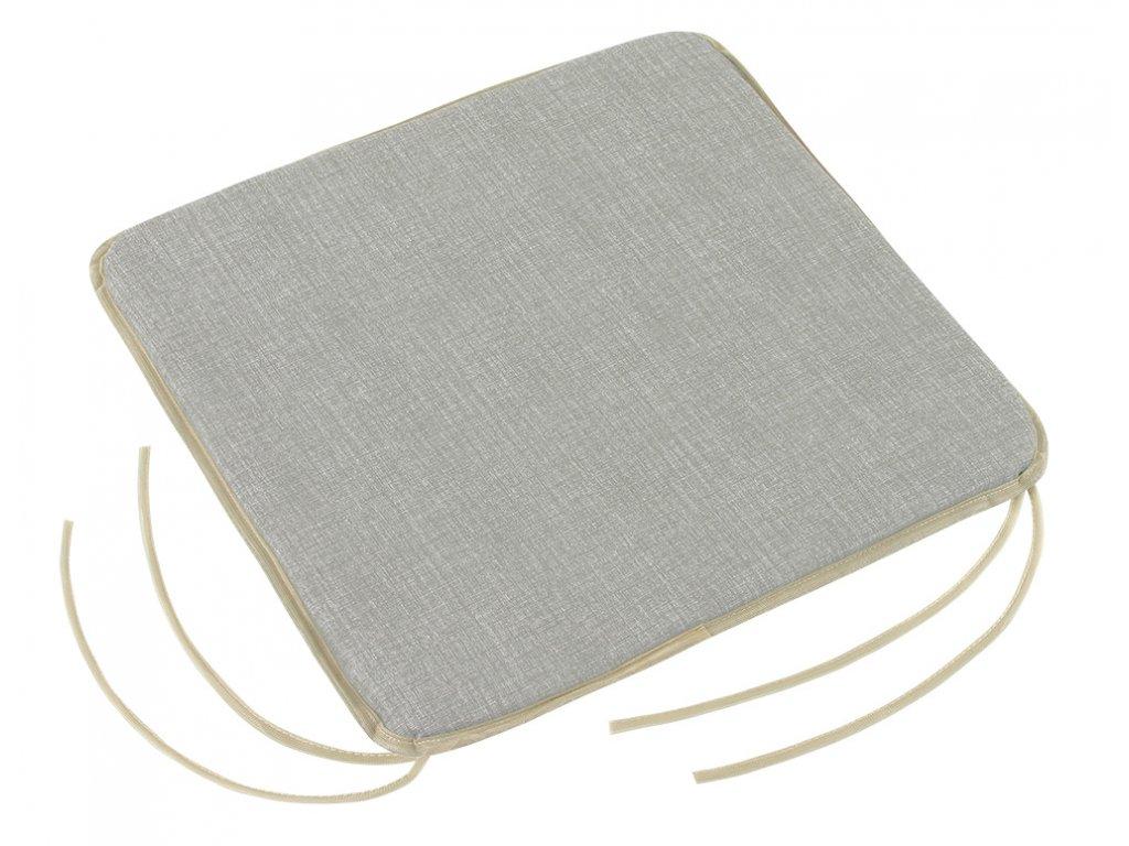 Sedák hladký s úvazy 40x40 cm UNI šedý