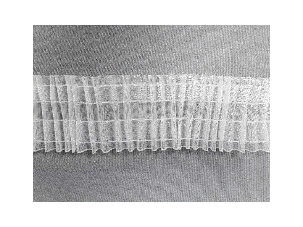 Řasící stuha 6971 univerzální řasení šíře 70 mm transparentní