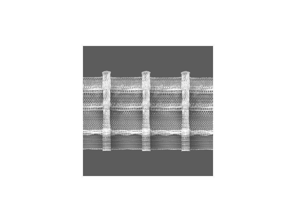 Řasící stuha 6898 1:2 šíře 50 mm transparentní