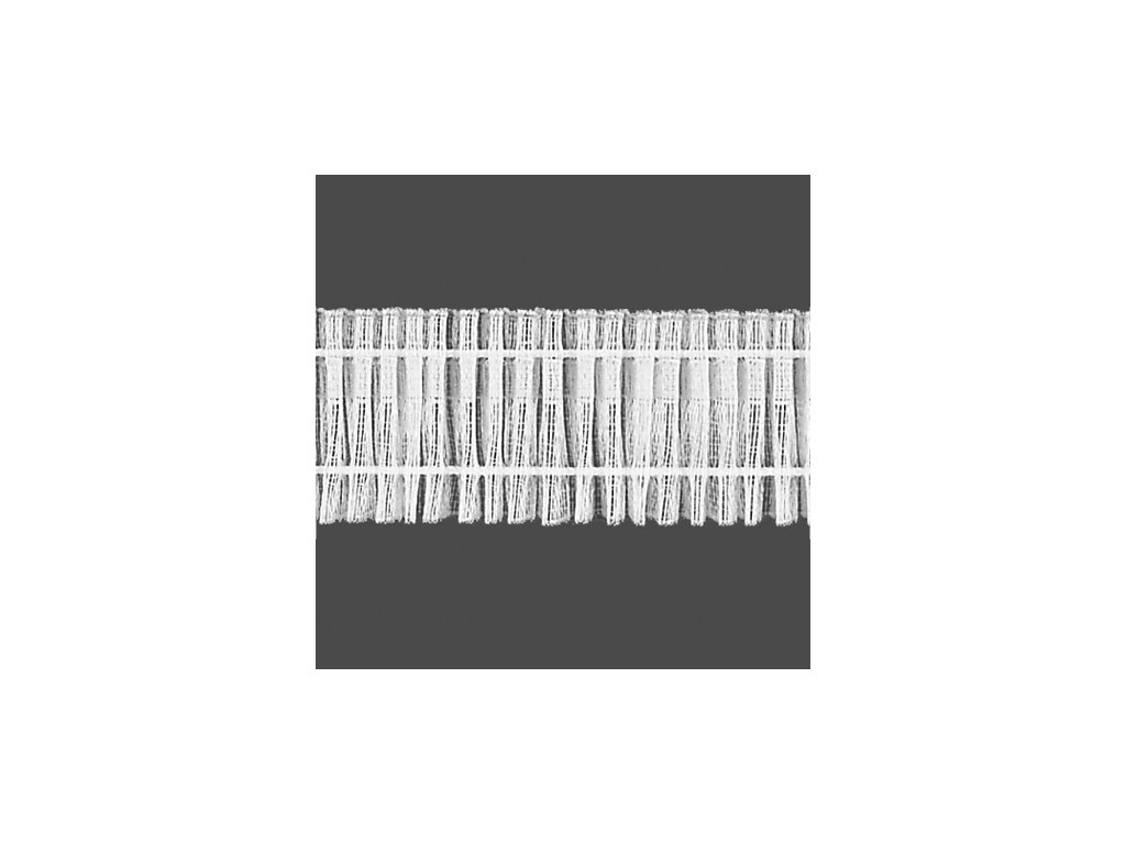Řasící stuha 6631 uni šíře 30 mm transparentní